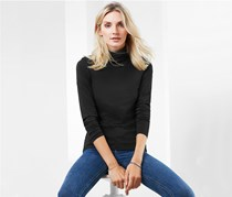 Women's Turtle Neck Shirt, Black