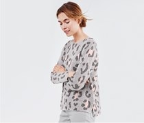 Women's Pullover, Grey/Pink