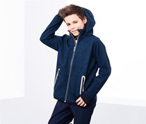 Boys Soft Shell Jacket, Blue