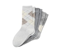 Women's Argyle Socks Set of 3, Grey/Dark Grey