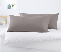 2 Jersey Pillowcases, Grey