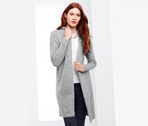 Women's Long Cardigan, Light Grey