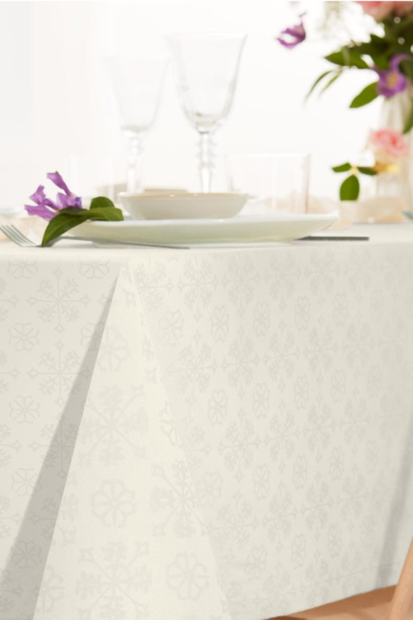 Jacquard Tablecloth, Cream