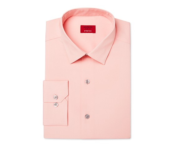 Alfani Men's Slim-Fit Stretch Solid Dress Shirt, Peach
