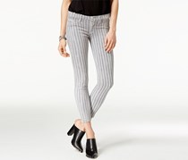 Hudson Super-Skinny Ankle Jeans, Cloud Stripe