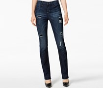 Dkny Jeans Ripped Skinny Jeans, Navy