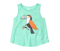 Crazy 8 Little Girls Sparkle Toucan Tank, Mint Ice Cream