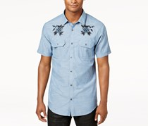 Inc Men's Embroidered Shirt, Stellar