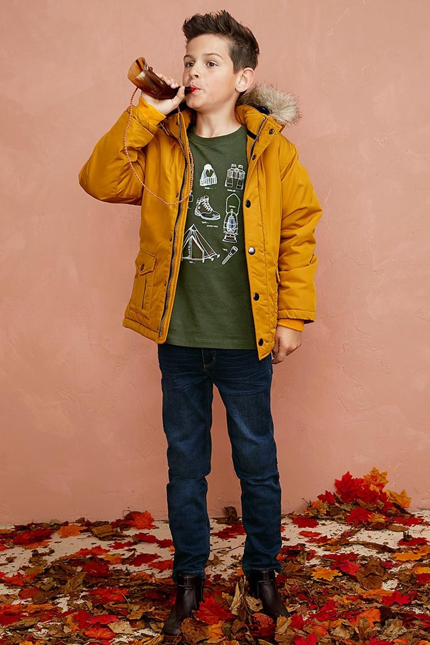 Boys Shirt Glow in the Dark, Olive