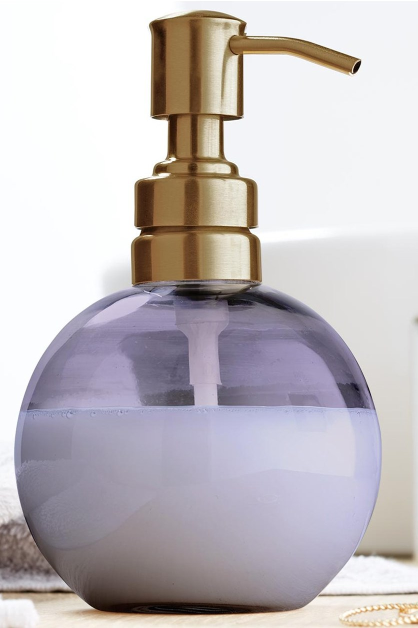 Soap Dispenser Glass, Purple