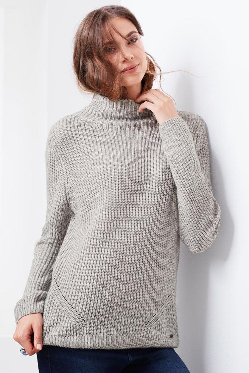 Women's Knitted Pullover, Grey