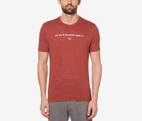 Original Penguin Holiday Graphic-Print T-Shirt, Red