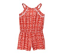 Crazy 8 Toddler Girl's Arrow Print Romper, Outback Red