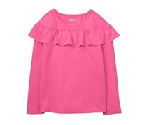 Crazy 8 Girl's Ruffle Tee, Pink Thistle