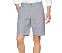 Men's Classic Fit Stretch Perfect Short, Navy Striped