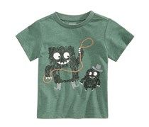 First Impressions Rodeo Monster-Print T-Shirt, Greenmoss