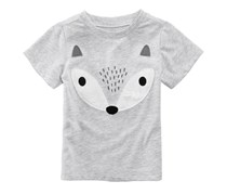 First Impressions Toddler's Fox-Print T-Shirt,  Chrome Heather