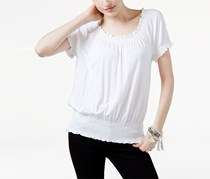 Women Off-The-Shoulder Top, Bright White
