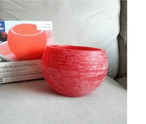 Real Wax Candle Holder, Red