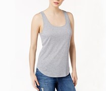 Kensie Ribbed Tank Top, Heather Grey