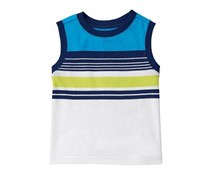 Crazy 8 Toddler Boys Stripe Tank, White
