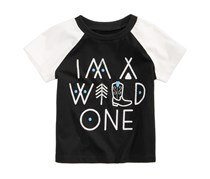 First Impressions Wild One-Print T-Shirt, Deep Black