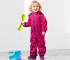 Toddlers Soft Shell Overall, Pink