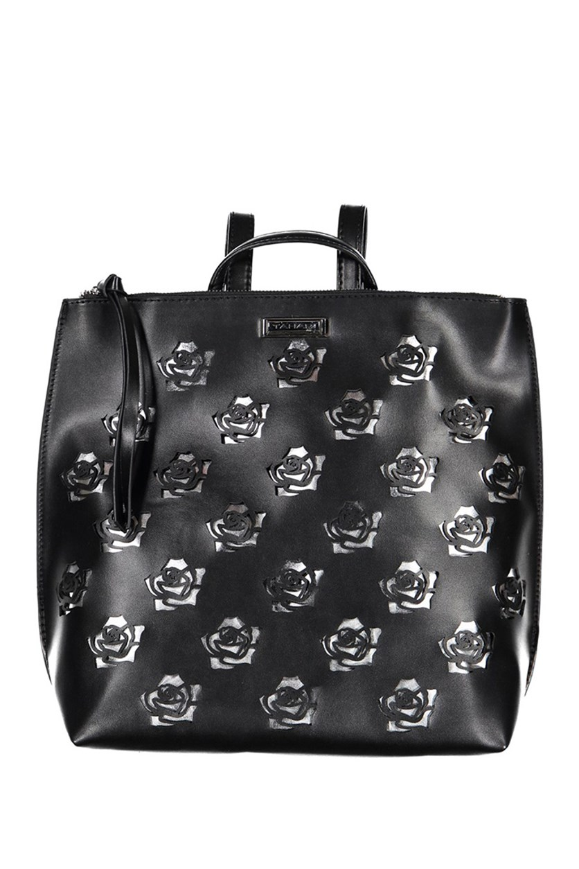Womens Rosey Backpacks, Black/Silver