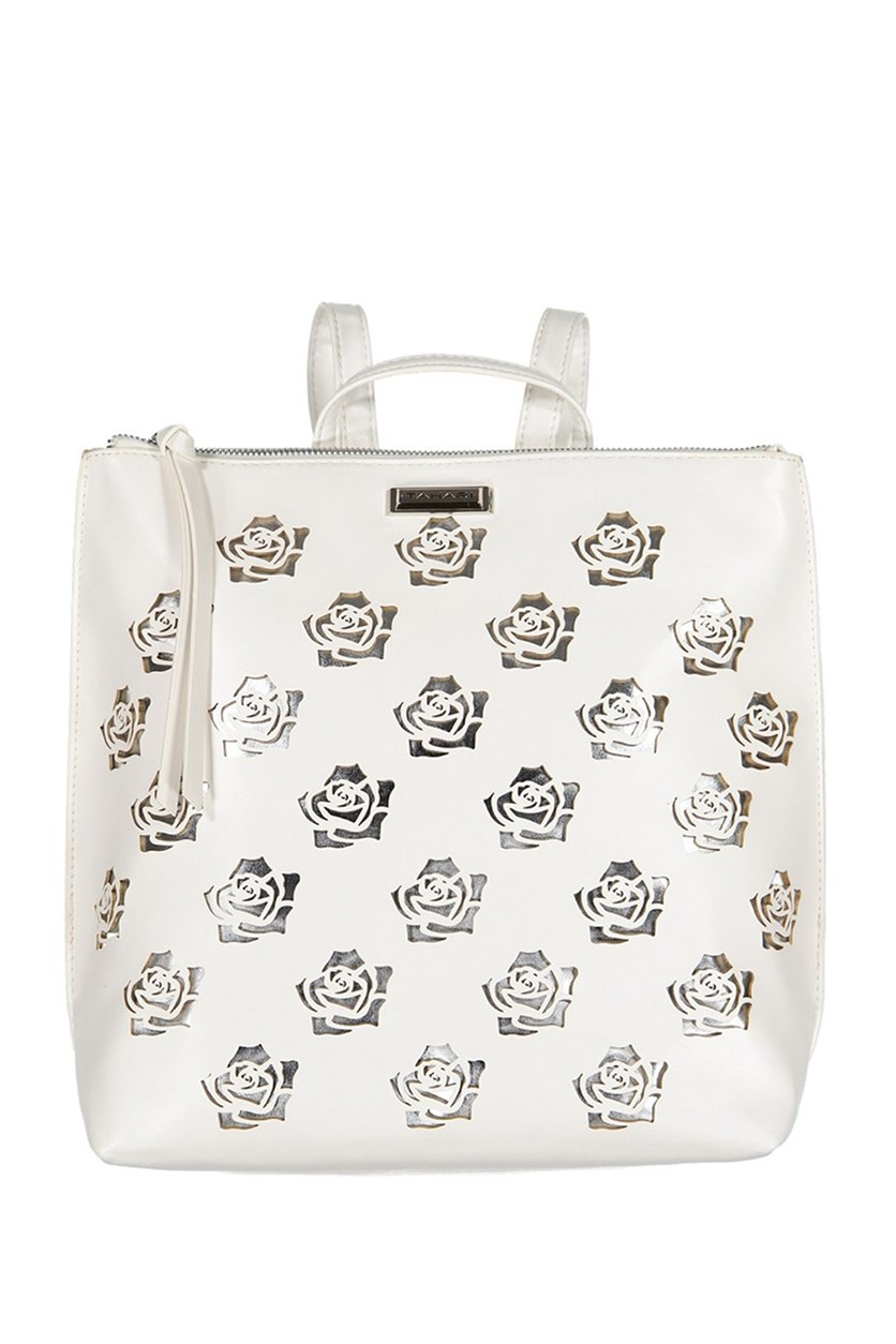 Womens Rosey Backpacks, White/Silver