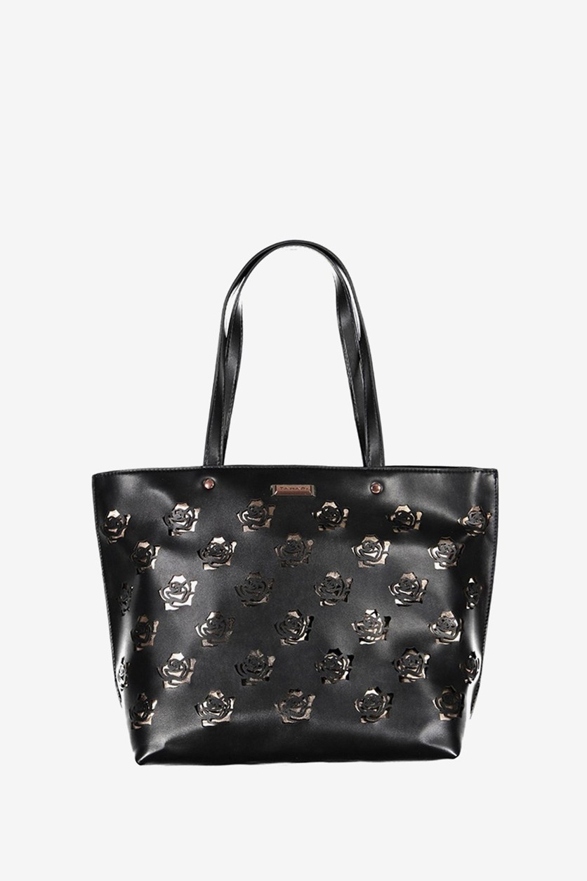 Womens Rosey Tote, Black/Rosegold