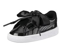 Puma Kids Girl's Basket Heart Glam, Black