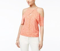 Thalia Sodi Ruffled Off-The-Shoulder Top, Coral Combo