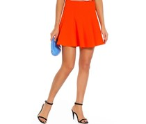 Women Pleated Skirt, Orange