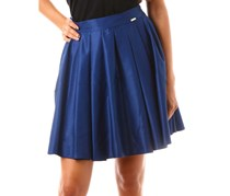 Mohito Women Pleated Skirt, Navy Blue