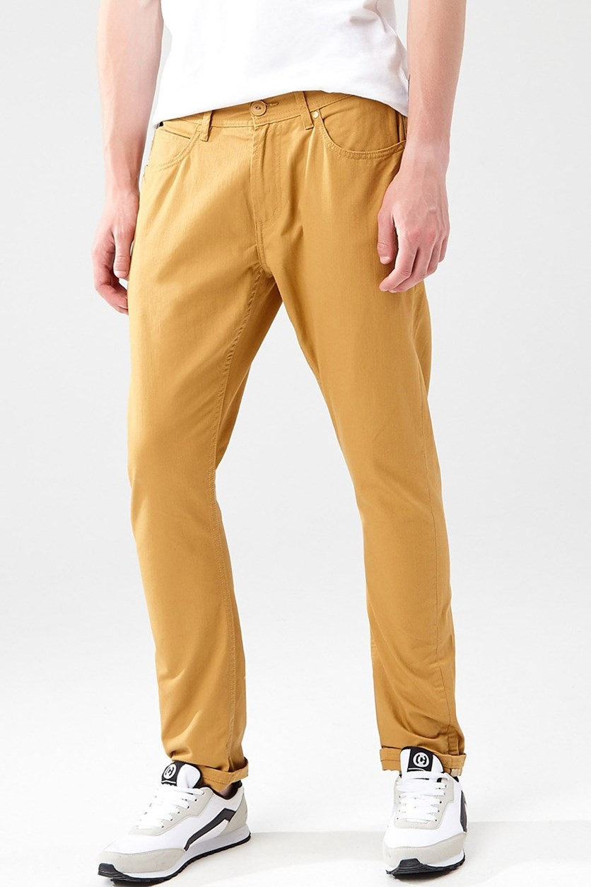 Men's Colored Jeans, Gold
