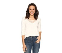 Lucky Brand Lace-Applique Top, Ivory