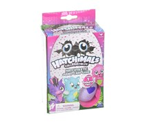 Hatchimals Colleggtibles Jumbo Card Game with 1 Exclusive Figure Egg, Purple/Blue