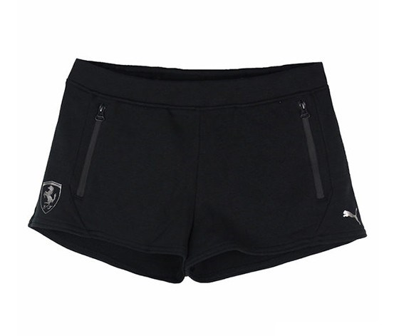 Women Ferrari Sweat Shorts, Black