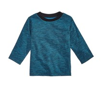 First Impressions Space-Dyed Cotton T-Shirt, Blue Paradise