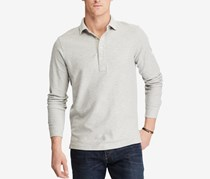 Polo Ralph Lauren Men's Cotton Popover Long Sleeve Shirt, Grey Heather