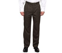 Perry Ellis Classic Fit Double Pleated Pants, Micro Melange