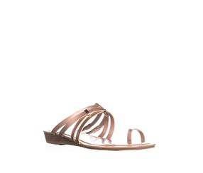 Bar III Women's Casual Slide Sandals, Rose Gold