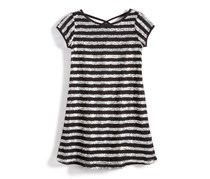 Nowadays Kid's Girls Skai Sequin Dress, Black/Silver