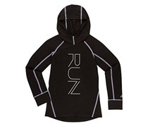New Balance Girls Athletic Hooded Pullover Top, Black