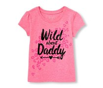 The Children's Place Baby Girl's Graphic Top, Pink