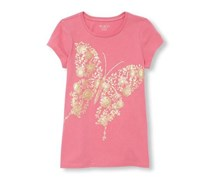 The Children's Place Girl's Graphic Top, Pink
