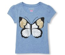 The Children's Place Baby Girl's Graphic Top, Light Purple