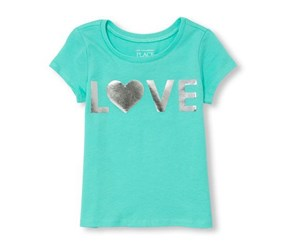 The Children's Place Baby Girl's Graphic Top, Blue