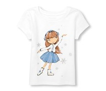 The Children's Place Baby Girl's Graphic Top, White