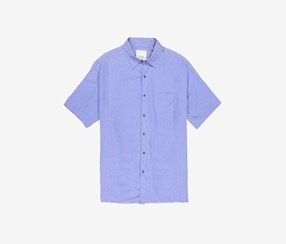 Tasso Elba Shirt Silk-Blend Crosshatch Shirt, Amparo Blue